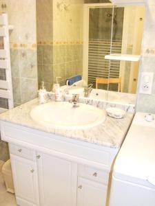 A bathroom at Appartement d'une chambre a Fayet avec magnifique vue sur la montagne jardin clos et WiFi