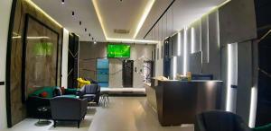 The lobby or reception area at Motel Sham