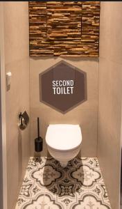 A bathroom at Suite 105