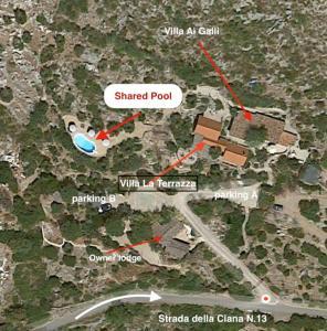 """Vista aerea di Villa """"Ai Galli"""""""