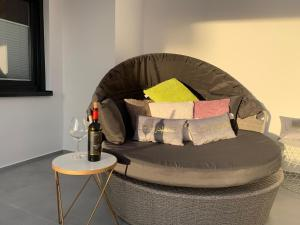 A seating area at Apartment Nr 8