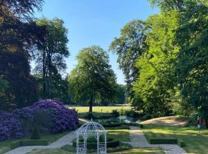 A garden outside Landgoed Groot Warnsborn