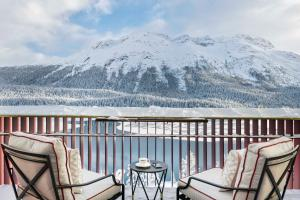 Badrutt's Palace Hotel St Moritz during the winter