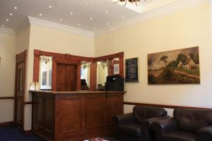 The lobby or reception area at Regency Hotel Westend