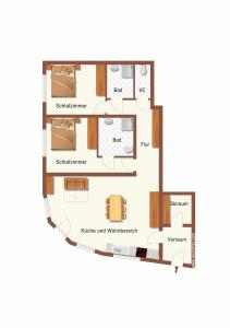 Půdorys ubytování Haus Wöhrer / Appartement Fischbacher