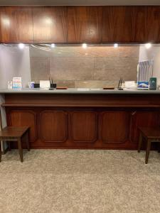A kitchen or kitchenette at Matsue Urban Hotel Lake Inn