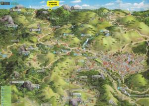 Uma vista aérea de Refúgio da Pedra - Casa na Montanha, Gonçalves-MG
