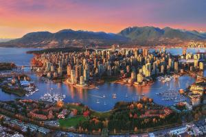 A bird's-eye view of Delta Hotels by Marriott Vancouver Downtown Suites