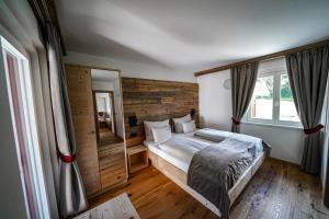 Cama o camas de una habitación en Garni Bergblick