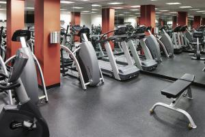 The fitness center and/or fitness facilities at Club Quarters Hotel in Boston