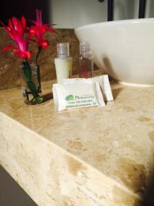 A bathroom at Hotel Palmeiras