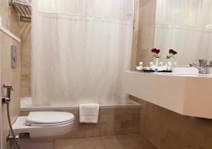 A bathroom at Petra Guest House Hotel