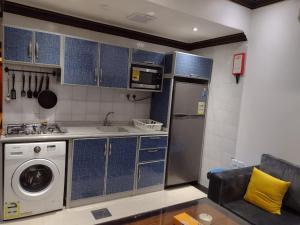 A cozinha ou cozinha compacta de Deyala Hotel Apartments 1