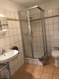 Ein Badezimmer in der Unterkunft VITA Ferienresidenz