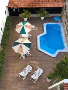 A view of the pool at Hotel Des Basques or nearby