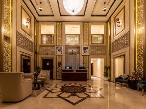 The lobby or reception area at Suha Creek Hotel Apartment, Waterfront Jaddaf, Dubai