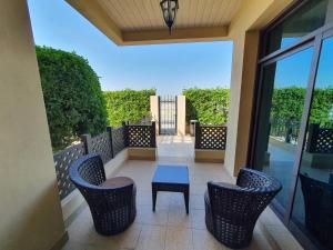 A balcony or terrace at Roda Beach Resort