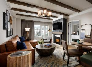 A seating area at Fairmont Chateau Whistler