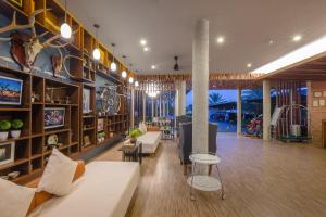 The lounge or bar area at The Tama Hotel