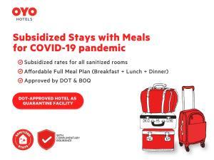 The floor plan of OYO 108 Spiral Suites (Quarantine Hotel)