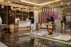 The lobby or reception area at Green Suites Hotel
