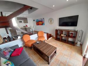 A seating area at El Cortijo Luxury