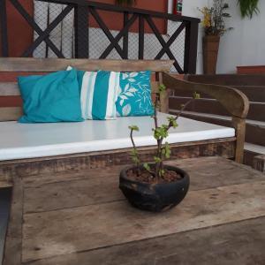 A seating area at Pousada Vila do Sol