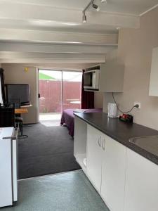 A kitchen or kitchenette at Blenheim Road Motor Lodge
