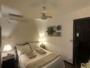 Cama ou camas em um quarto em Pousada Varanda dos Reis Suítes