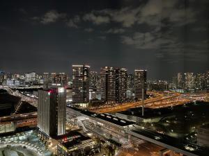 A bird's-eye view of Tokyo Bay Ariake Washington Hotel