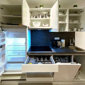 A kitchen or kitchenette at Nurban Apartments Oldtown Nürnberg