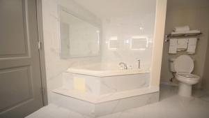 A bathroom at Holiday Inn Hazlet, an IHG Hotel