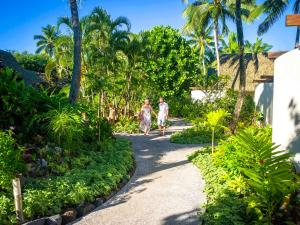 A garden outside Little Polynesian Resort