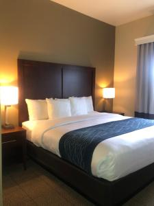 A bed or beds in a room at Comfort Inn & Suites Ukiah Mendicino County