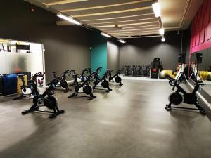The fitness center and/or fitness facilities at Bardufoss Hotel