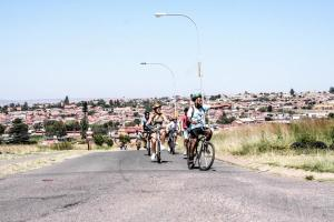Biking at or in the surroundings of Lebo's Soweto Backpackers