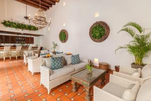 A seating area at Hotel Casa San Agustin