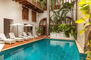 The swimming pool at or near Hotel Casa San Agustin
