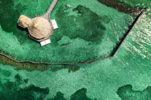 A bird's-eye view of Thatch Caye Resort a Muy'Ono Resort