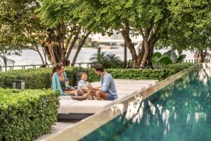 The swimming pool at or near Four Seasons Hotel Bangkok at Chao Phraya River