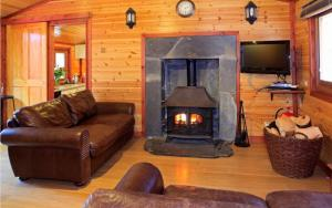 A seating area at Cairngorm Lodges