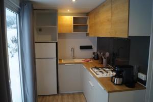 A kitchen or kitchenette at Mobilheim O'Hara