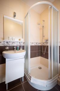 A bathroom at Penzion Hastrman