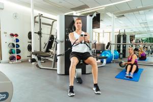 Das Fitnesscenter und/oder die Fitnesseinrichtungen in der Unterkunft Stamford Plaza Adelaide
