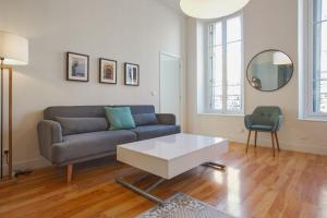 A seating area at Beautiful and bright 2-br at the doors of Le Panier in Marseille - Welkeys