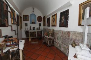 A seating area at Hotel Azul de Oaxaca