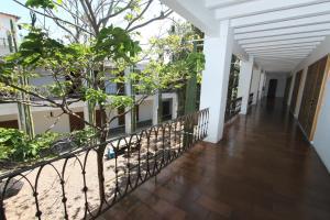 A balcony or terrace at Hotel Azul de Oaxaca