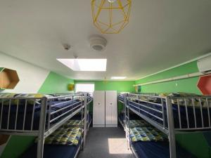 A bunk bed or bunk beds in a room at ArtHouse Accommodation Boutique Backpackers