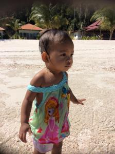 Children staying at Saracen Bay Resort