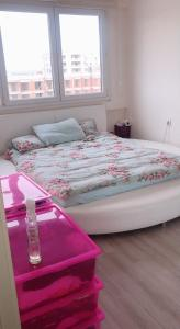 A bed or beds in a room at DİHA RECİDENS